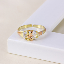 11362 Zirconium unique gold plated creative fashion opening adjustable rings