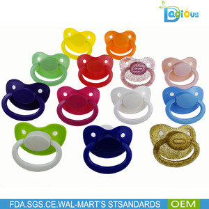 2016 recommended Large Silicone Adult Baby Pacifier With Big plush Size Nipple Teat