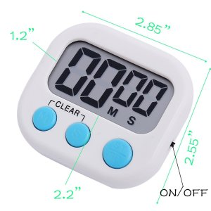 Different colors Days Hours Minutes Seconds Countdown Kitchen Cooking Digital Timer