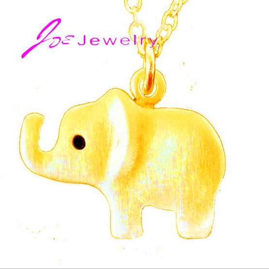 Sterling Silver Cute Elephant Hug Pendant Necklaces Women Fine Jewelry Brincos S925 for Mother Gift