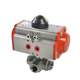 1 inch Single Return Stainless Steel 3 Way Automatic Pneumatic Actuator Pneumatic Ball Valve