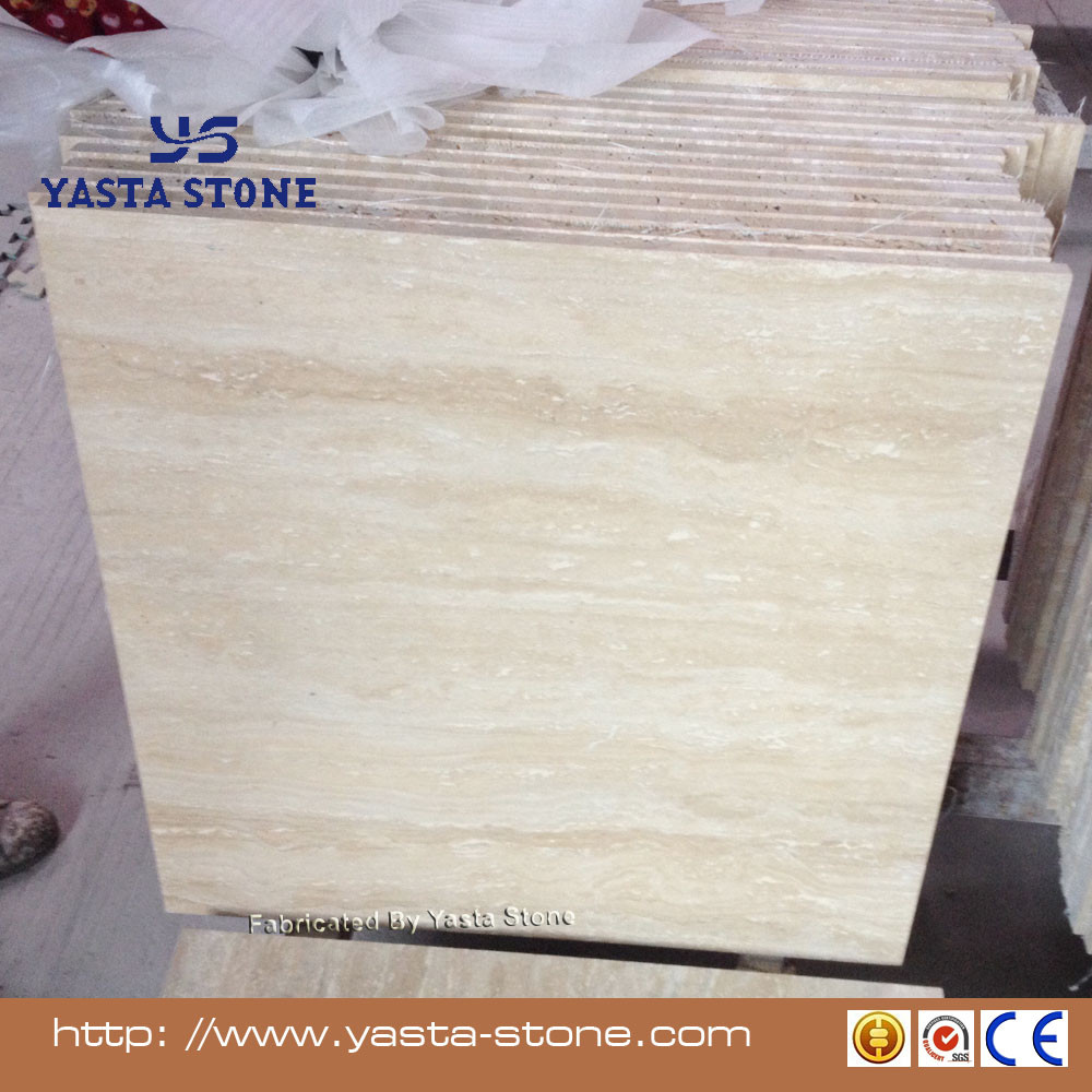 Yellow Cream Beige Travertine Tile Marble Floor Price