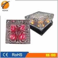 NI-MH or super capacitor urtra bright led glass solar ground light, solar powered bricks