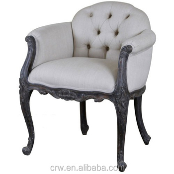 Rch-4018 Carved Low Back Upholstered Chair French Style Bedroom Furniture -  Buy French Style Bedroom Furniture,Low Back Upholstered Chair French Style  ...