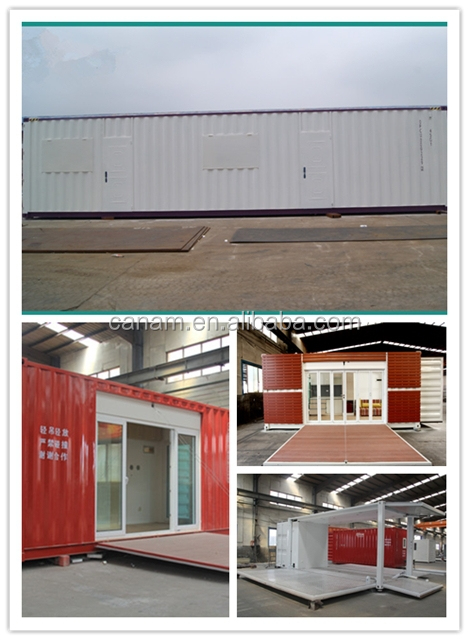 China flat pack low cost container house prefab moden house container