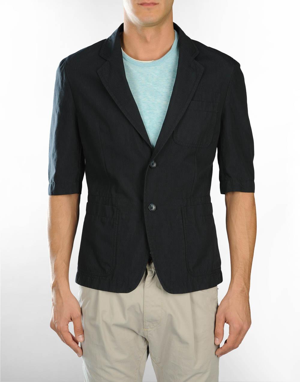 Mens jacket half - Workwear Jacket Half Sleeve Mens Formal Jacket