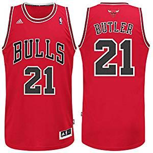 74c2ac88639 Get Quotations · Chicago Bulls Jimmy Butler Red Swingman Jersey