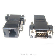 VGA Extender Male to LAN  RJ45 Network Cable Female Adapter