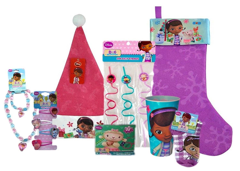 Disney Complete Stocking Bundle: Stocking, Cap, Toys & Candy (Disney Doc McStuffins)