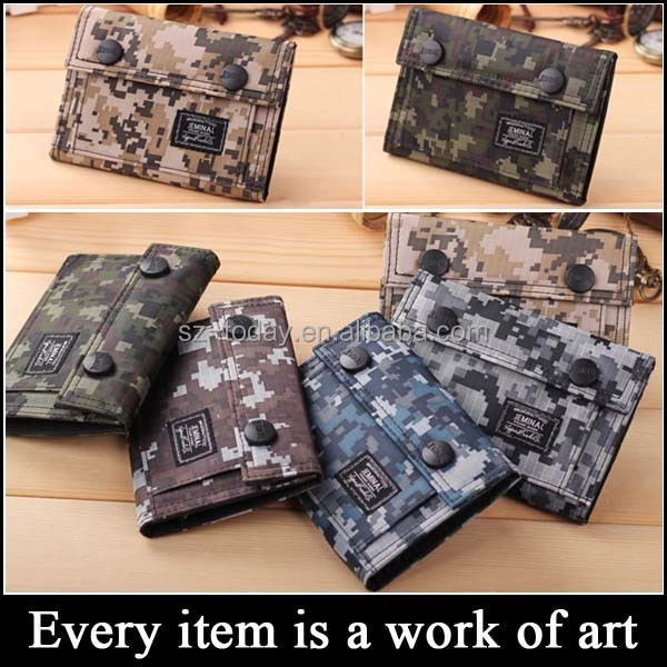 (sz-wallet 98) children wallet canvas camouflage hasp teen boy wallets for boys