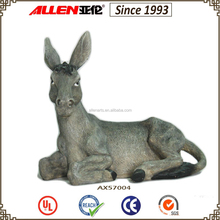 "7.6"" factory direct polyresin donkey figurine"