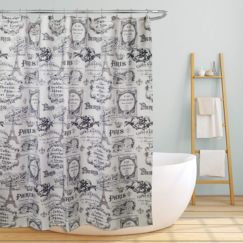 Get Quotations Linen Store Fabric Canvas Shower Curtain 70x70 Paris