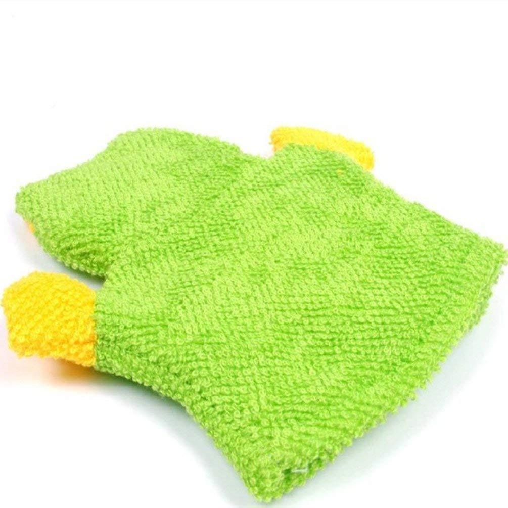 RAGAN Infant Bath Glove,2pcs Baby Bath Sponge Glove with Mesh Bath Ball,Cute Children Shower Bathing Towel Animals Style Shower Wash Cloth Towels,Style Random