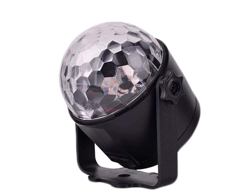 Party Disco Lights Strobe Led Remote Control 6 Color Crystal Magic Dj Ball Sound Activated Dance Bulb Lamp Decoration (US Plug)
