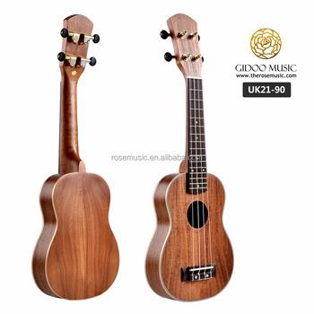 High End Thin Body All Acacia Koa Soprano Ukulele With Maple Binding