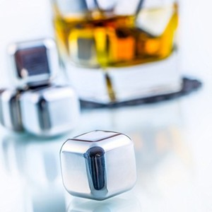 Amazon Hot Sale, Stainless Steel Whisky Stone, Reusable Ice Cube, LFK-IC01