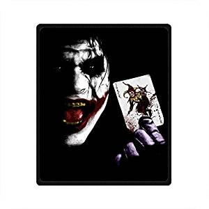 SOFTKIITY Personalized Blanket Gothic Style Joker Design 58X80 Inches (Large)