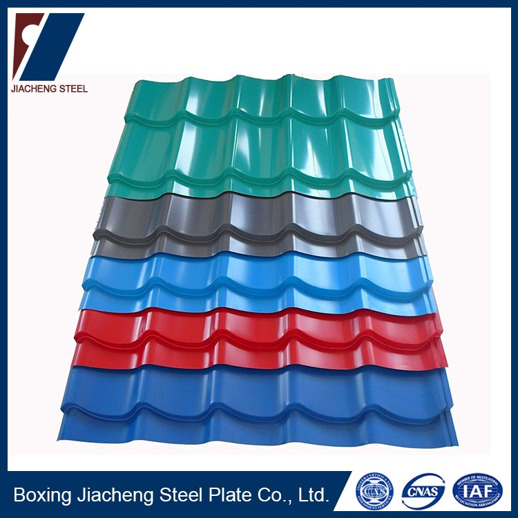 Curved metal roofing steel plate