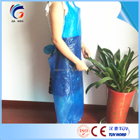 Disposable Apron With Sleeves Pe Cpe Isolation Gown Long Sleeves ...