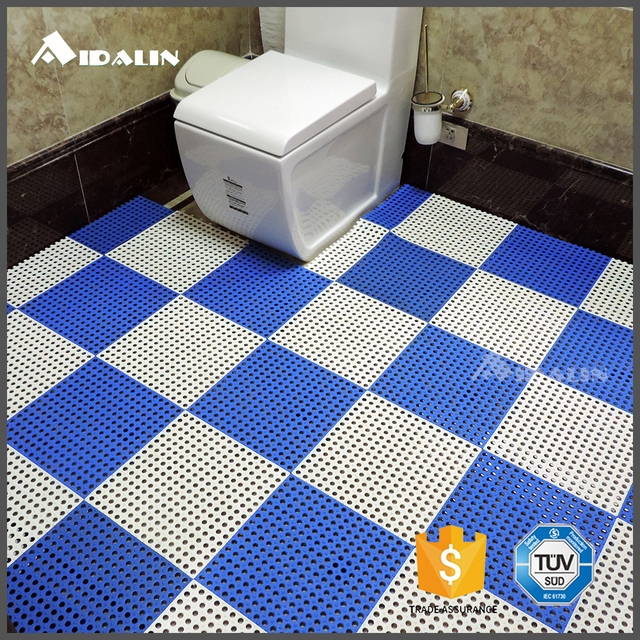 durable sky blue anti slip pvc plastic bathroom bath and floor mat