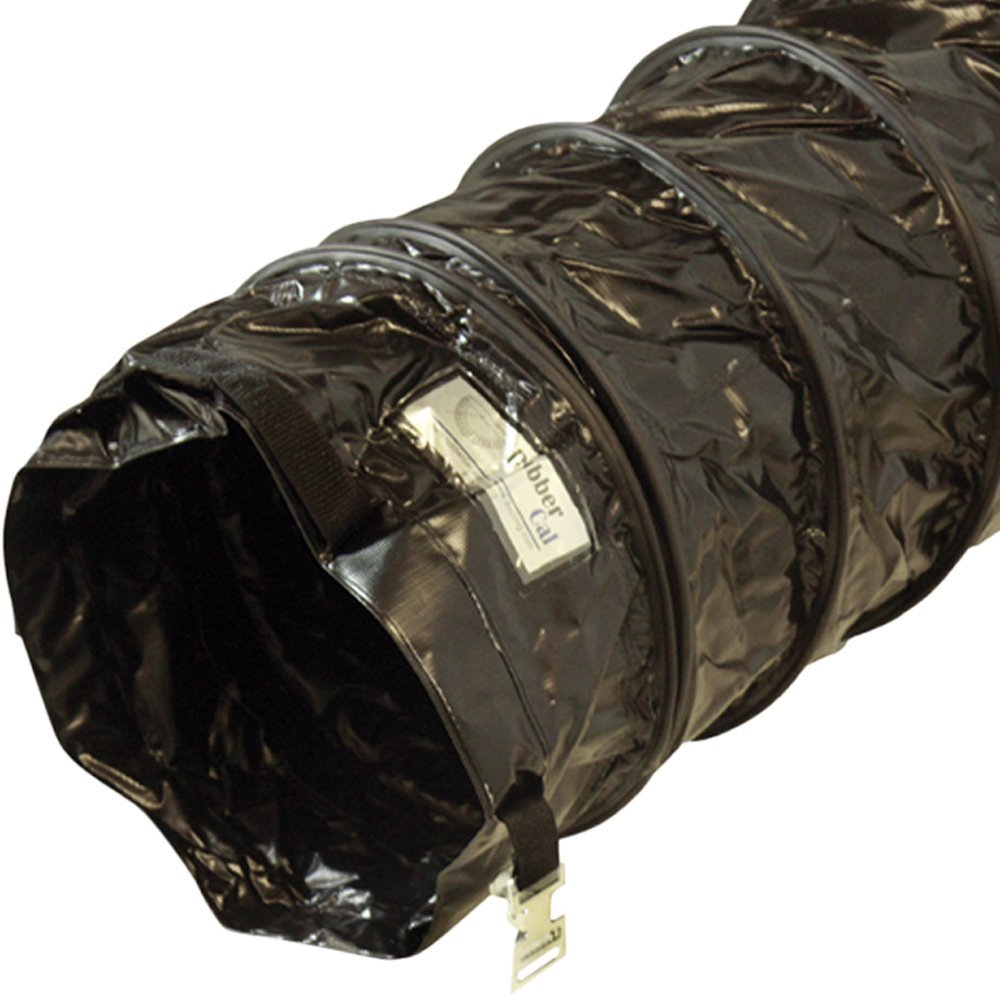 "Rubber-Cal ""Air Ventilator Black"" Ventilation Duct Hose (Fully Stretched) - 8-Inch by 25-Feet"
