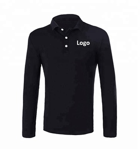 Men's Casual Fake Pocket Long-Sleeve Polo T Shirt