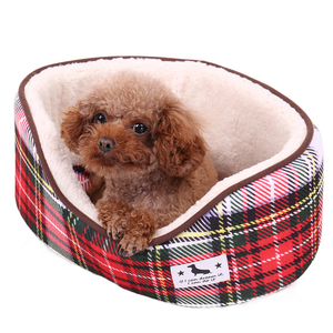 Speedypet Specifications Of Product Wholesale Luxury Fashionable Waterproof Coral Wool Red Plaid Style Dog Bed