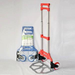 Hot selling foldable hand truck with two wheels metal folding aluminum trolley