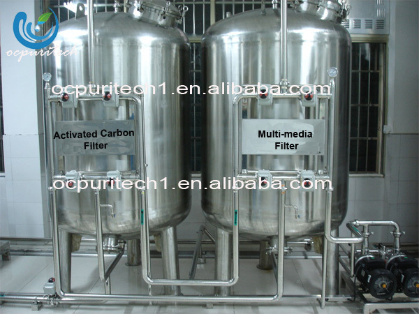 FRP / SUS304 material industrial use sand filter carbon filter