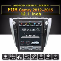 12.1'' android car audio system for Toyota Camry 2012 2015 dvd vcd cd mp3 mp4 player+Steering wheel control,wifi,DVD Multimedia