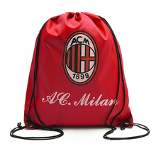 Sac promotionnel de voyage de chaussure de cordon de sublimation de club de football de football, compartiment de paquet de poche de stockage de bottes d'espadrille de golf de gymnase