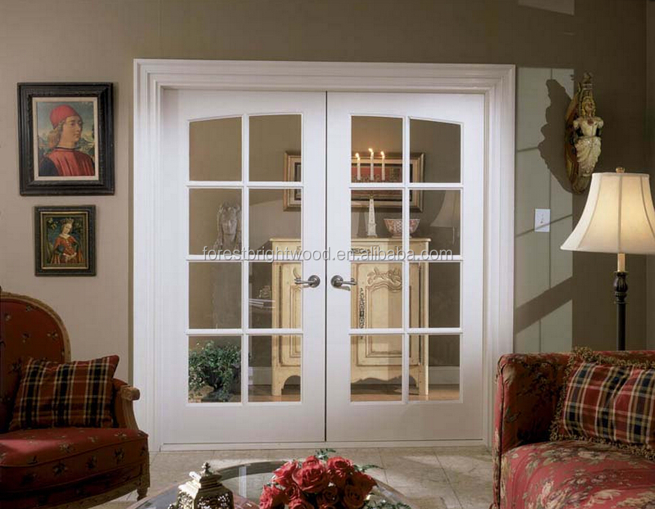 Forest bright european style double glass doors common for Double glazed french doors