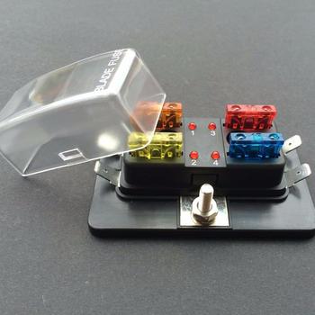 4 Way Blade Fuse Box 1 Positive Bus In Led Warning Atc Ato 12v Volt  Way Car Fuse Box on
