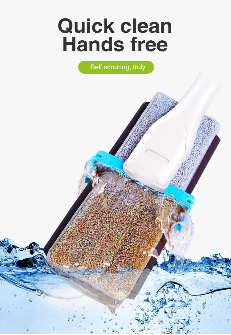 BOOMJOY 2019 hot 360 magic self cleaning double sided squeeze mop