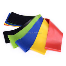 green: 0.4mm, blue: 0.6mm, yellow: 0.8mm, red: 1.0mm, black: 1.2mm - exercise loop band set
