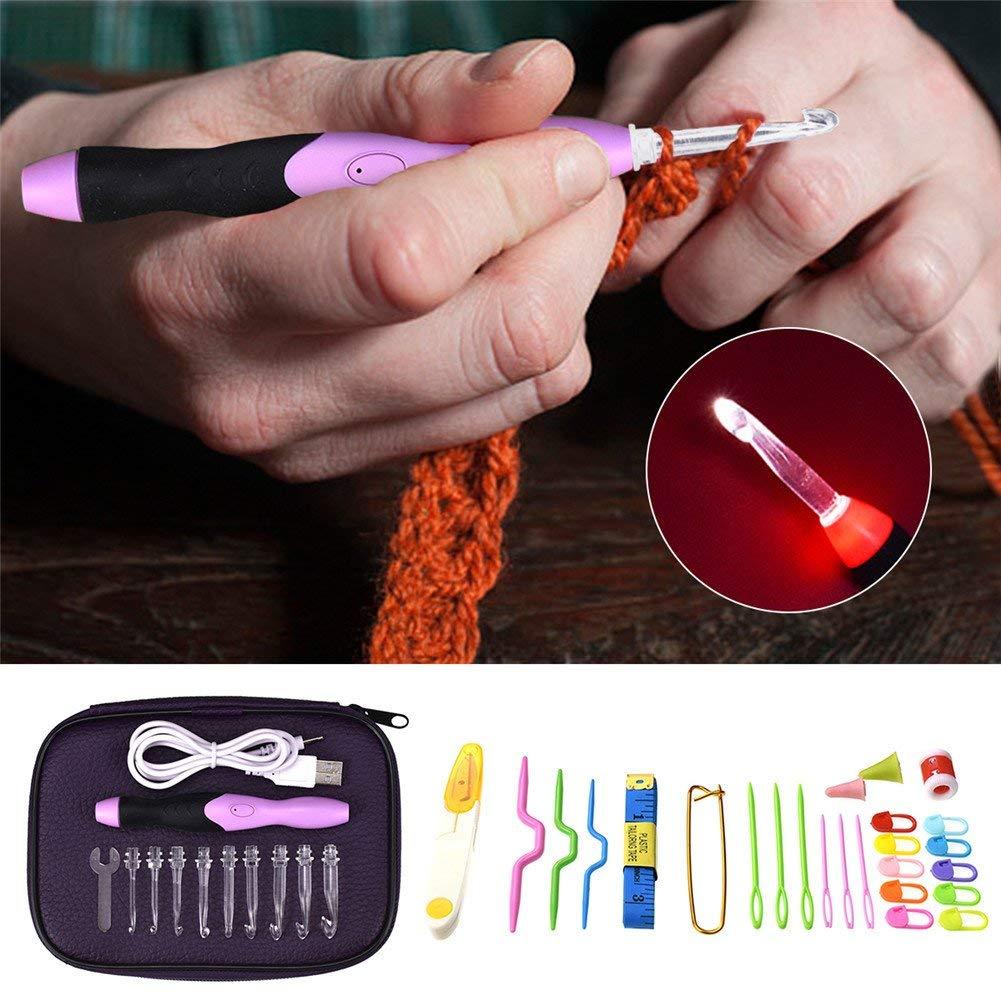 Buy Sundlight Crochet Hooks Set Led Rechargeable Lighted 38pcs
