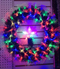wholesale festival ornament charming indoor fiber optic wreaths