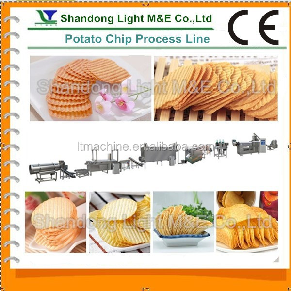 Industrial High Quality Automatic Potato Chips Flake Equipment Line