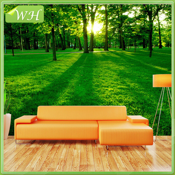 Green Large Wall Mural 3D Forest Background Wallpaper Living Room Wallpaper Part 95