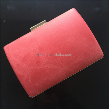China professional manufacturer beautiful pink clutch bag for girls