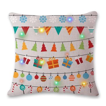 factory wholesale cotton cover pillow with led light