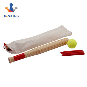 wooden finished Baseball Bat with four billets and a ball ,