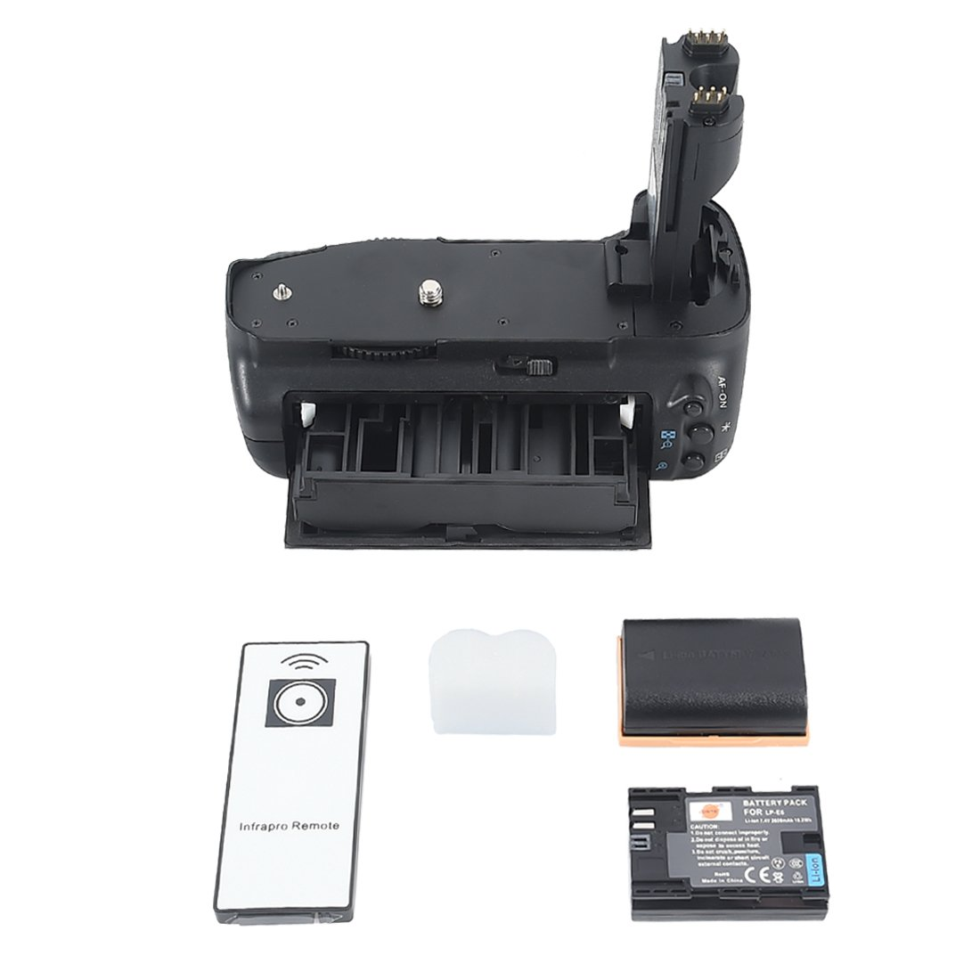 DSTE® Pro IR Remote BG-E7 Vertical Battery Grip + 2x LP-E6 LP-E6N for Canon EOS 7D SLR Digital Camera