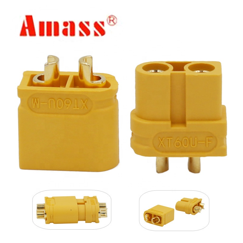 Amass XT60 Upgraded XT60U Plug 3.5mm Banana Connector Male and Female Motor Bullet Connector Plug For RC Lipo Battery