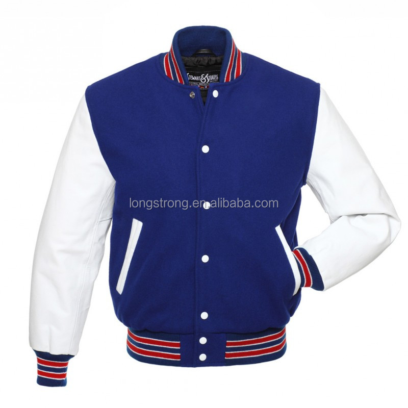 Wool leather varsity jacket letterman importer jacket