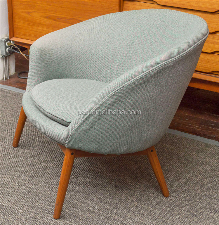 Classic Danish Modern Designer Furniture Hans Olsen Fried Egg Lounge Chair