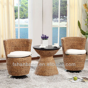 High Class Casual Seagrass Swivel Chairs