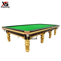Professional tournament solid wood jiujiang slate 12ft cheap price snooker billiard pool table with steel cushion for sale