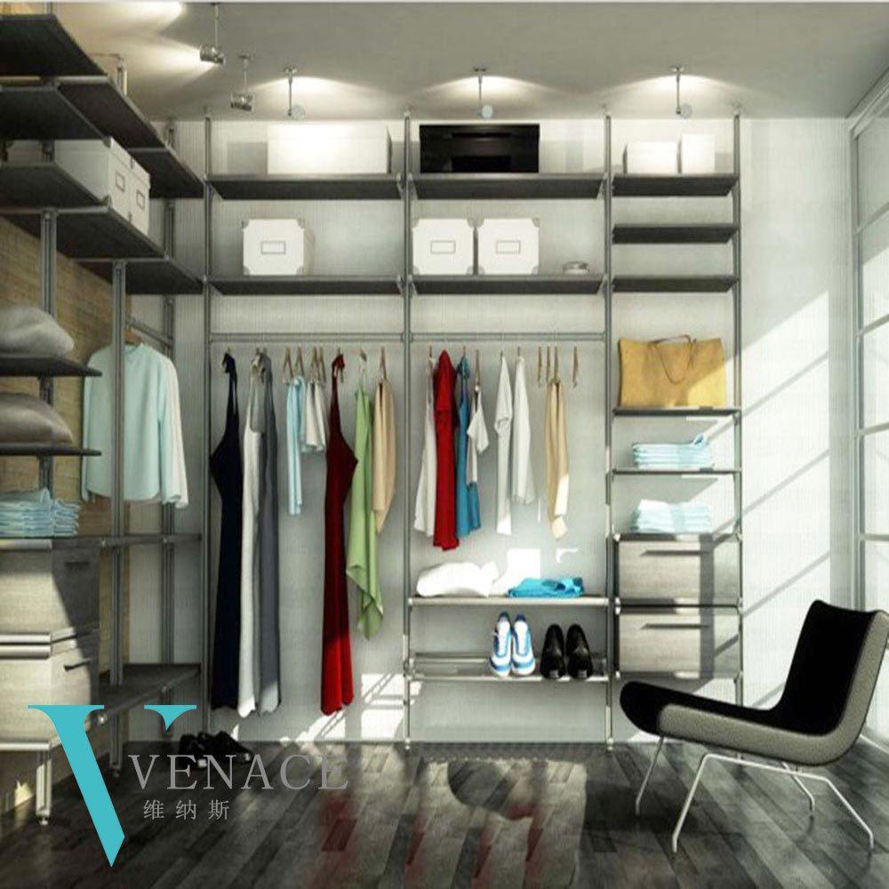 Attractive Wall Mounted Wardrobe Cabinet Metal Steel Bedroom Wardrobe