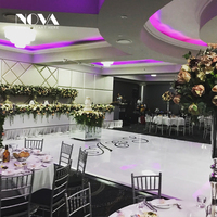 China Seamless Wooden White Portable Dance Floor White & Black Disco dance floor wedding